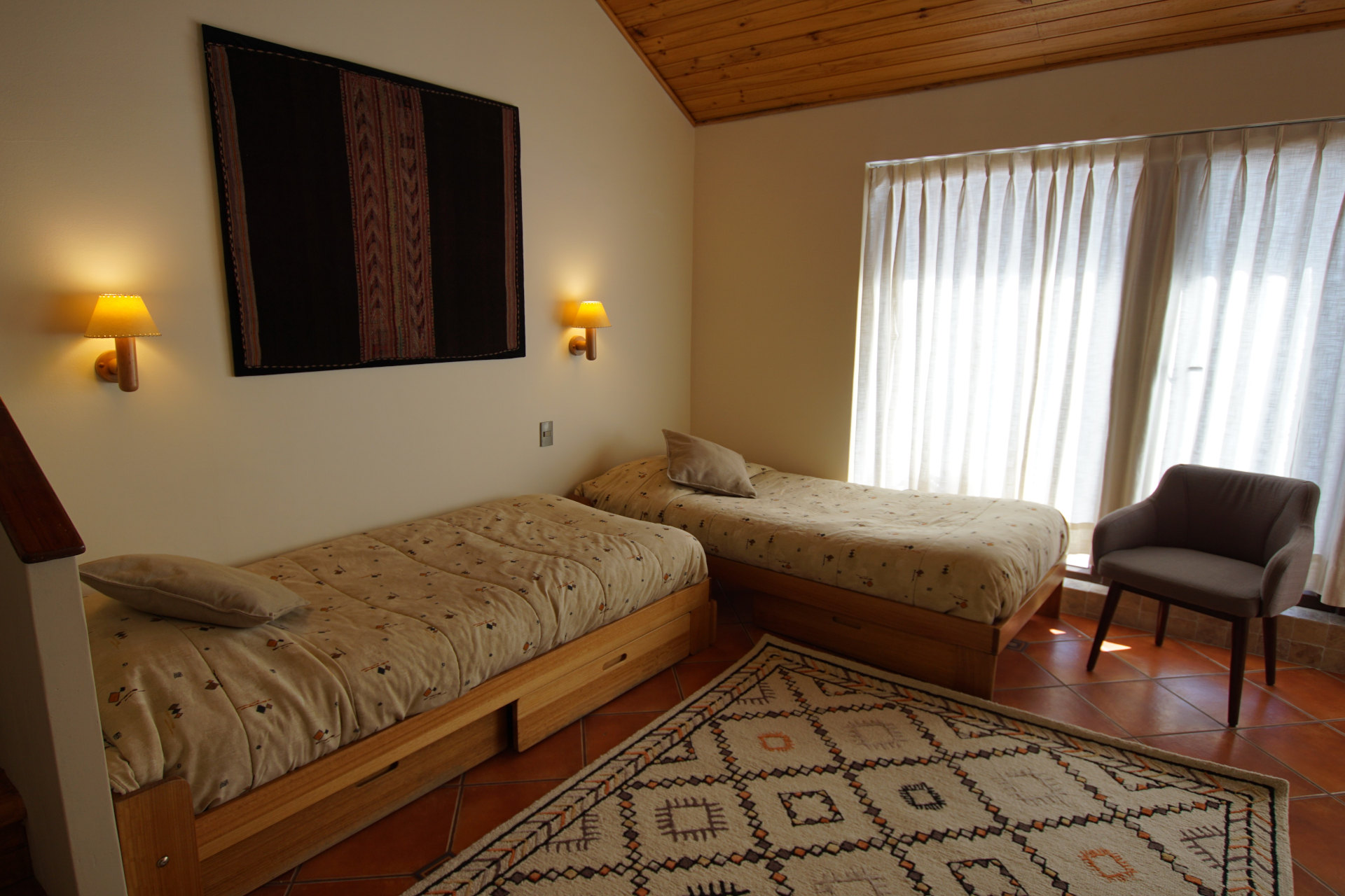 Sala con dos camas - Departamento Tipo B 223